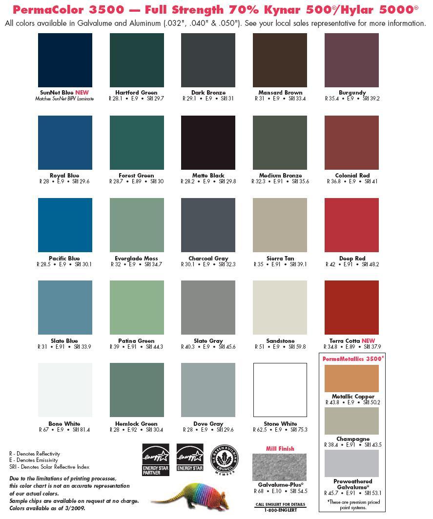 ... Metal Roofing · Colors