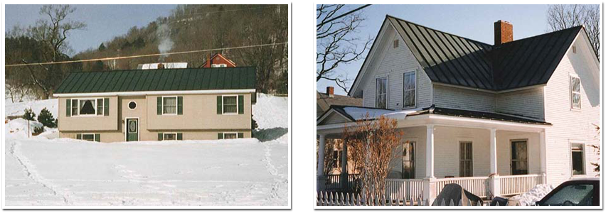 Two Houses With Roof Repairs